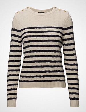 Stella Nova genser, Cotton/Wool Strikket Genser Creme STELLA NOVA
