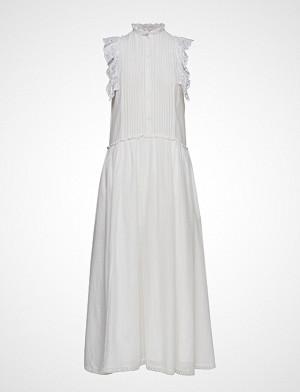 Zadig & Voltaire kjole, Romane Coton Robe Longue Dentelle Knelang Kjole Hvit ZADIG & VOLTAIRE