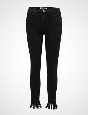 FRAME jeans, Le High Skny Fringe Skinny Jeans Svart FRAME