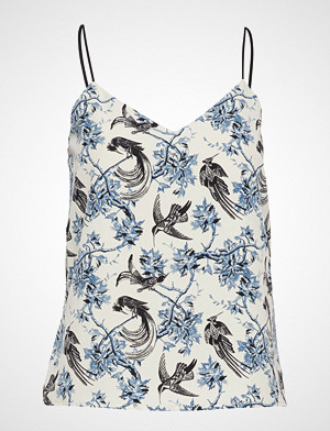 Scotch & Soda bluse, Jersey And Woven Mixed Tank Top Bluse Ermeløs Blå SCOTCH & SODA