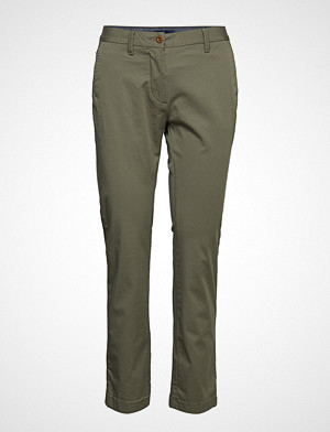 Gant bukse, Classic Cropped Chino Chinos Bukser Grønn GANT