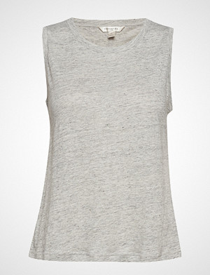 Banana Republic singlet, Sl Linen Shorter Length Tank T-shirts & Tops Sleeveless Grå BANANA REPUBLIC