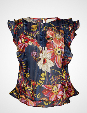 Lollys Laundry bluse, Harmony Top Bluse Ermeløs Multi/mønstret LOLLYS LAUNDRY