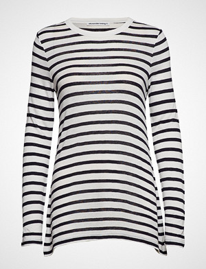 T by Alexander Wang T-skjorte, Classic Striped Slub Jersey L/S Tee T-shirts & Tops Long-sleeved Hvit T BY ALEXANDER WANG