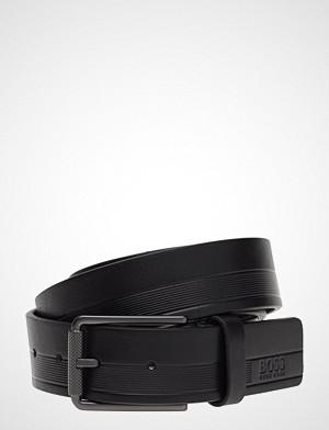 BOSS Business Wear belte, Tylir-Stripe_sz35 Belte Svart BOSS BUSINESS WEAR