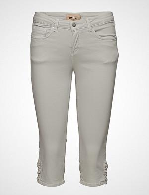 Imitz jeans, Capri Pants Slim Jeans Hvit IMITZ
