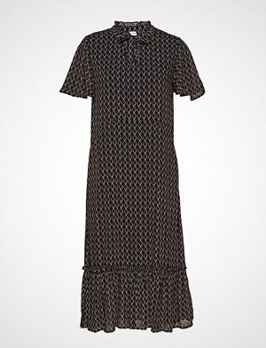 Saint Tropez kjole, U6114, Woven Dress - Maxi Knelang Kjole Svart SAINT TROPEZ
