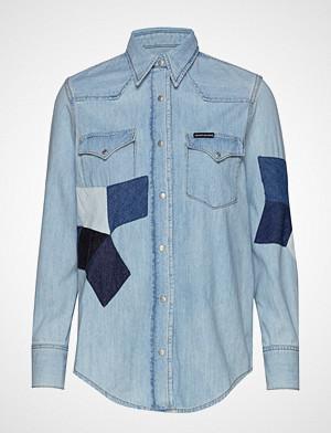 Calvin Klein skjorte, Foundation Western S Langermet Skjorte Blå CALVIN KLEIN JEANS