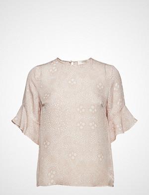 Mayla Stockholm Isa Silk Top Blouses Short-sleeved Rosa Mayla Stockholm