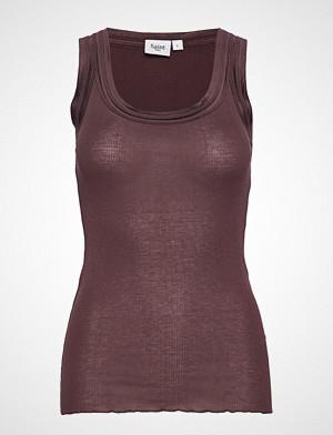 Saint Tropez singlet, E1375, O-N Rib Top W Wide Straps T-shirts & Tops Sleeveless Lilla SAINT TROPEZ