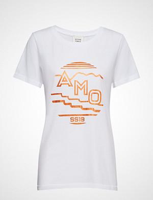Second Female T-skjorte, Amo Tee T-shirts & Tops Short-sleeved Hvit SECOND FEMALE