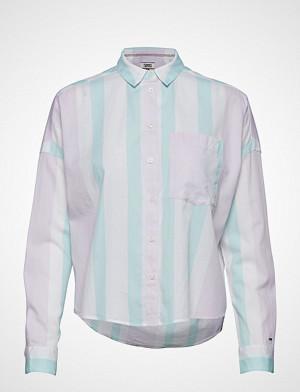 Tommy Jeans skjorte, Tjw Boxy Multistripe Shirt Langermet Skjorte Gul TOMMY JEANS