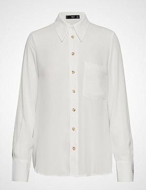 Mango skjorte, Pocket Flowy Shirt Langermet Skjorte Hvit MANGO