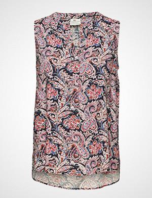 Lexington Clothing bluse, Nadeen Paisley Top Bluse Ermeløs Multi/mønstret LEXINGTON CLOTHING