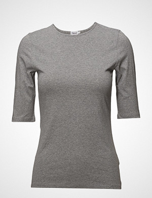 Filippa K T-skjorte, Cotton Stretch Elbow Sleeve T-shirts & Tops Short-sleeved Grå FILIPPA K