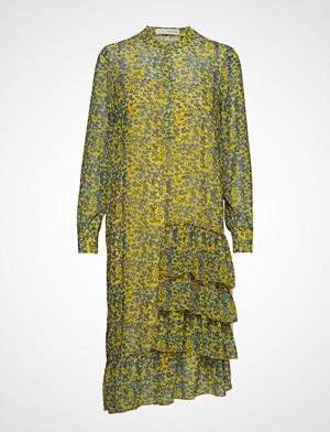 Pieszak kjole, Louisa Gia Frill Dress Knelang Kjole Gul PIESZAK