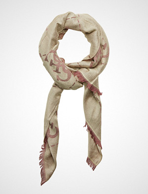 Guess skjerf, Guess Vintage Scarf 78x180 Skjerf Beige GUESS