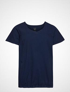 Zizzi T-skjorte, Mmarrakesh, Ss, Blouse T-shirts & Tops Short-sleeved Blå ZIZZI