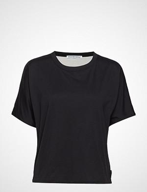 T by Alexander Wang T-skjorte, Superfine Jersey S/S Crewneck Top T-shirts & Tops Short-sleeved Svart T BY ALEXANDER WANG