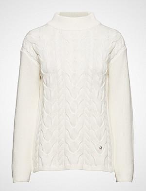 Morris Lady genser, Elena Cable Knit Strikket Genser Creme MORRIS LADY