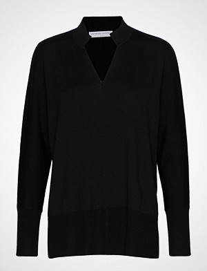 Cathrine Hammel Tunisian Sweater Bluse Langermet Svart CATHRINE HAMMEL
