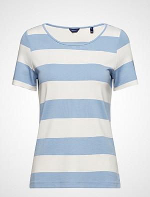 Gant T-skjorte, O2. Barstriped Top T-shirts & Tops Short-sleeved Blå GANT