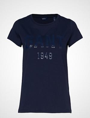 Gant T-skjorte, D2. 1949 Logo Ss T-Shirt T-shirts & Tops Short-sleeved Blå GANT