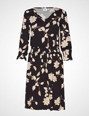 Saint Tropez kjole, U6502, Jersey Dress On Knee Knelang Kjole Svart SAINT TROPEZ