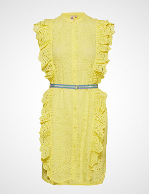 Becksöndergaard kjole, Anglaise Haley Knelang Kjole Gul BECKSÖNDERGAARD