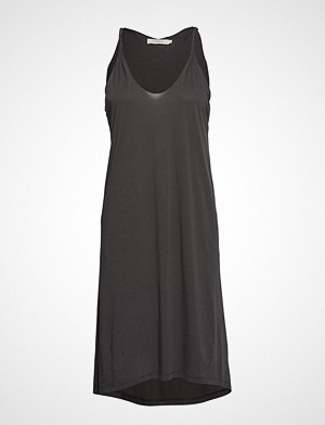 Rabens Saloner kjole, Twisted Jersey Tank Dress Knelang Kjole Svart RABENS SAL R