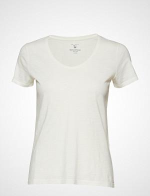 Gant T-skjorte, O2. Sunbleached Ss T-Shirt T-shirts & Tops Short-sleeved Hvit GANT