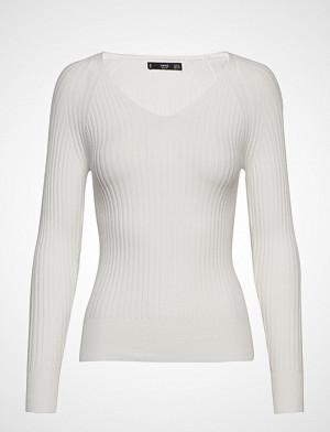 Mango genser, Ribbed Knit Sweater Strikket Genser Hvit MANGO