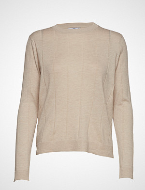 Mango genser, Ribbed Cotton-Blend Sweater Strikket Genser Grå MANGO