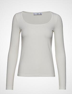 Mango T-skjorte, Ribbed T-Shirt T-shirts & Tops Long-sleeved Grå MANGO