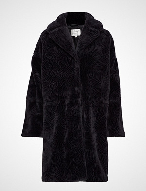 Second Female Myra Coat Outerwear Faux Fur Svart Second Female