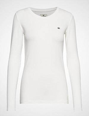 Lexington Clothing T-skjorte, Thelma Solid Tee T-shirts & Tops Long-sleeved Hvit LEXINGTON CLOTHING