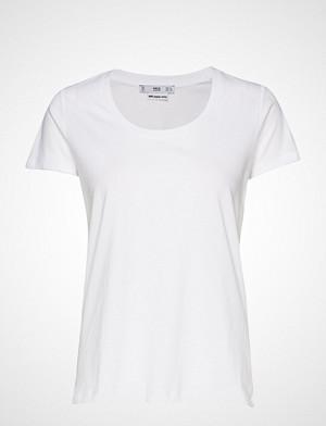 Mango T-skjorte, Organic Cotton T-Shirt T-shirts & Tops Short-sleeved Hvit MANGO