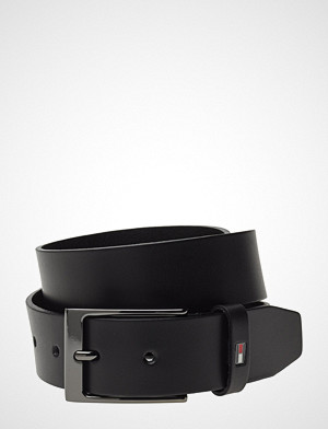 Tommy Hilfiger Layton Leather Belt Accessories Belts Classic Belts Svart Tommy Hilfiger