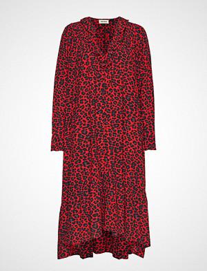 Zadig & Voltaire kjole, Rikota Print Leo Dress Knelang Kjole Rød ZADIG & VOLTAIRE