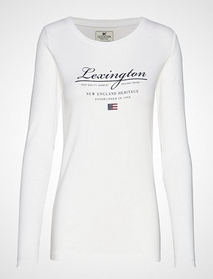 Lexington Clothing T-skjorte, Thelma Logo Tee T-shirts & Tops Long-sleeved Hvit LEXINGTON CLOTHING