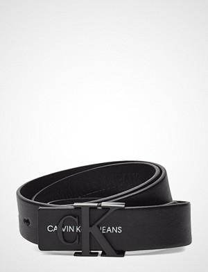 Calvin Klein belte, J 3cm Mono Leather B Belte Svart CALVIN KLEIN