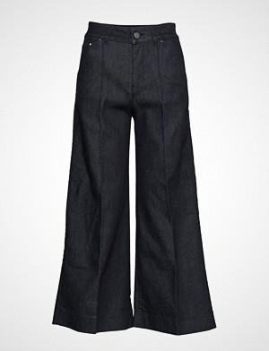 Karl Lagerfeld bukse, Tailored Denim Culottes Vide Bukser Blå KARL LAGERFELD