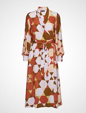 Stine Goya kjole, Micaela, 420 Hexagons Silk Knelang Kjole Beige STINE GOYA