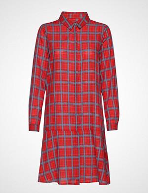Denim Hunter kjole, Dhfrankie Shirt Dress Knelang Kjole Rød DENIM HUNTER