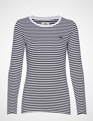 Lexington Clothing T-skjorte, Thelma Solid Tee T-shirts & Tops Long-sleeved Blå LEXINGTON CLOTHING
