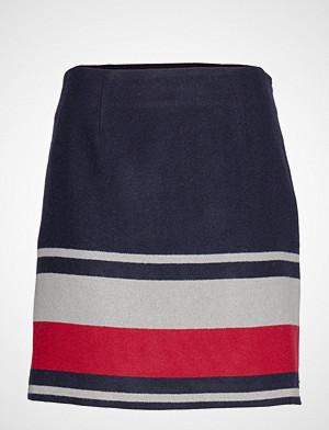 Tommy Hilfiger skjørt, Fluffy Mini Skirt, 0 Kort Skjørt Blå TOMMY HILFIGER