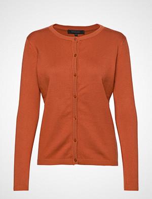 Soft Rebels kardigan, Zara Cardigan O-Neck Strikkegenser Cardigan Oransje SOFT REBELS