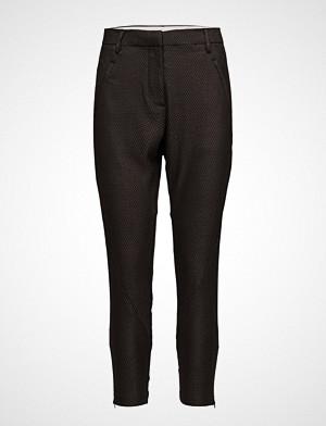 Fiveunits bukse, Angelie 543 Zip, Grey Moon Tie, Pants Bukser Med Rette Ben Grå FIVEUNITS