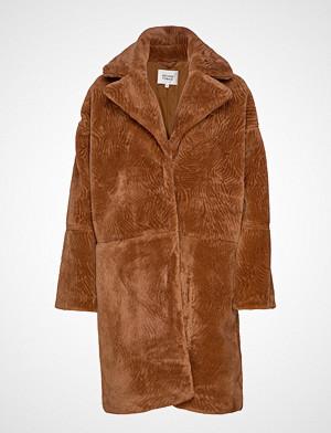 Second Female Myra Coat Outerwear Faux Fur Brun Second Female