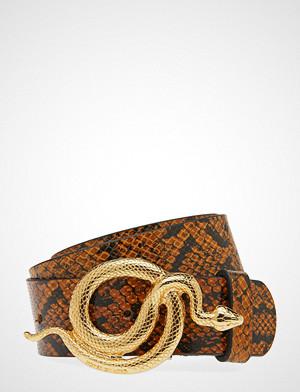 Notes du Nord belte, Milo Leather Belt Snake Belte Brun NOTES DU NORD